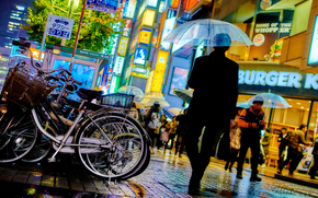 city, megalopolis, Japan, Tokyo, people, advertising, building