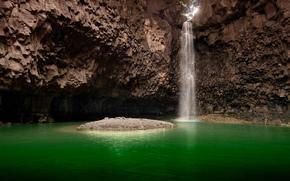 waterfall, waterfalls, nature, landscape, pond