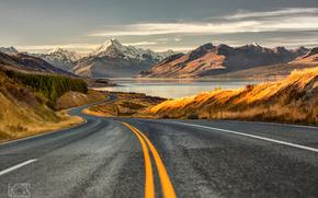 rodovia, estrada, Montanhas, perpektiva