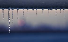 Icicles, winter, Macro