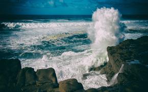 mare, Rocce, onde, paesaggio