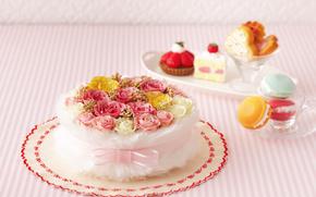 праздники, праздник, цветы, торт, день Святого Валентина