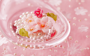 праздники, праздник, бусины, цветочки, стекло, день Святого Валентина