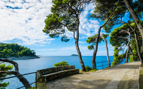 Cavtat, croatia, sea, Cavtat, Croatia, embankment, sea, landscape