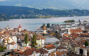 Lucerne, bridge, chapel, Switzerland