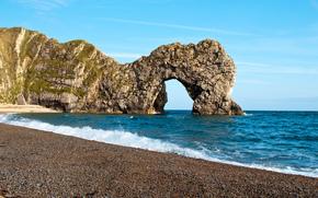 durdle door, Dorset, England, Rocks, sea, shore, arch, landscape