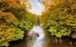 North Yorkshire, UK, Северный Йоркшир, Великобритания, река, осень, деревья, пейзаж