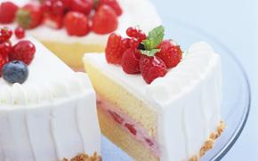 ягоды, малина, черника, клубника, десерт, еда