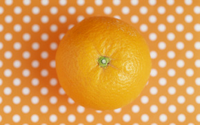 orange, background, polka dots, food, fruit
