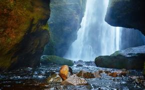 cascata, Rocce, pietre