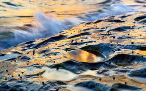 Исландия, водоем, свет, блики