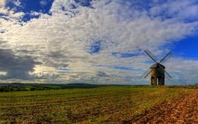 チェスタートンの風車, ウォリックシャー州, イギリス, チェスタートンの風車, ウォリックシャー州, 英国, フィールド, 工場, 風景