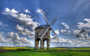 Chesterton Windmill, Warwickshire, Royaume-Uni, Chesterton Windmill, Warwickshire, Royaume-Uni, domaine, moulin, paysage