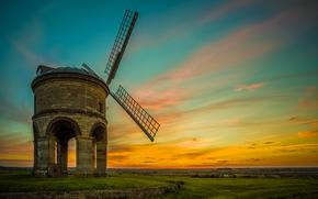 Chesterton Windmill, Warwickshire, Regno Unito, Chesterton Windmill, Warwickshire, Regno Unito, campo, mulino, paesaggio