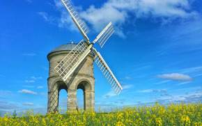 Chesterton Windmill, Warwickshire, United Kingdom, Chesterton Windmill, Warwickshire, UK, field, mill, landscape