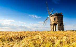 Chesterton Molino, Warwickshire, Reino Unido, Chesterton Molino, Warwickshire, Reino Unido, campo, molino, paisaje