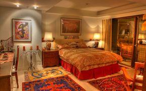 Intérieur de la chambre, intérieur, chambre, meubles