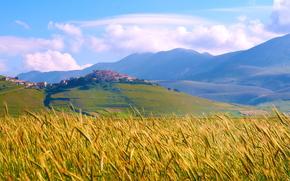 Italia, Montagne, campo, cielo