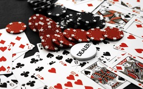 casino, poker, Chips, Cards