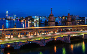 Berlino, Berlino, capitale, Deutschland, Germania, Germania, città, panorama, luci
