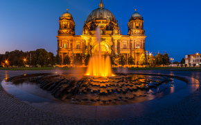 berlin, Берлин, столица, deutschland, germany, Германия, город, панорама, огни