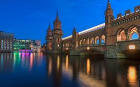 Berlin, Berlin, capitale, Deutschland, Allemagne, Allemagne, ville, panorama, lumières