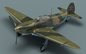 Soviet fighter, plane, cab