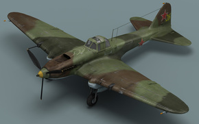 штурмовик, истребитель, самолёт, модель
