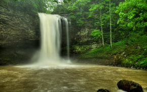 Wasserfall, Rocks, Fluss, Wald, Bäume, Natur