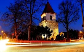 chiesa, Chiesa, tempio, stradale, notte