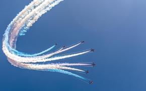 samolot, niebo, festiwal