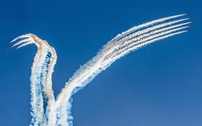 avion, ciel, festival