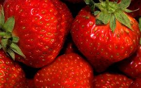 клубника, ягоды, макро
