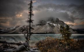 See, Mountains, Bäume, Landschaft