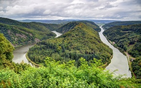 Mettlach, german, Horseshoe Bend, Bend of the river