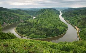 Mettlach, german, Horseshoe Bend, Curva del fiume
