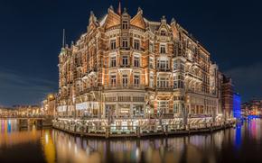 Hotel De L'Europe, Amsterdam, night