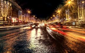 París, Francia, París, Francia, ciudad, noche