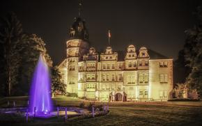 Замок Детмольд, Германия, ночь