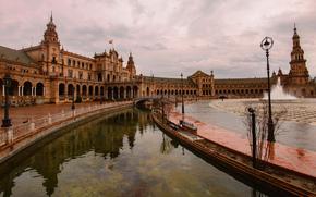 Площадь Севилья, Испании, город