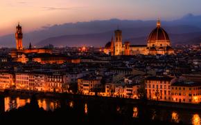 Florence, city, night