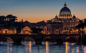 Rome, Italy, night