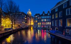 Amsterdam, Amsterdam, stolica i największe miasto Holandii, Niderlandy, Znajduje się w prowincji Holandia Północna