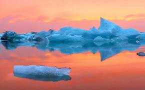 アイスランド, アイス, 氷, 氷河, 浮氷, 池, 冬
