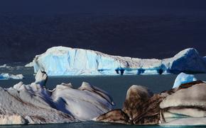Islandia, hielo, hielo, glaciar, témpano de hielo, estanque, invierno