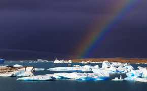 Iceland, ice, ice, glacier, floe, pond, winter