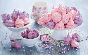sweet, sweets, dessert, cookies, meringue, food, crockery
