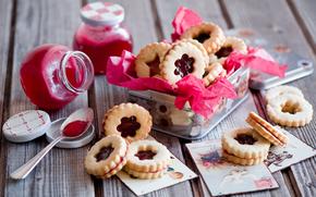 печенье, еда, десерт, сладкое, сладости
