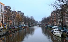 Amsterdam, Амстердам, столица и крупнейший город Нидерландов, Нидерланды, Расположен в провинции Северная Голландия