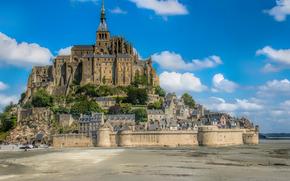 Mont Saint-Michel, Мон-Сен-Мишель, Франция